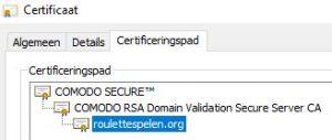 comodo SSL certificaat