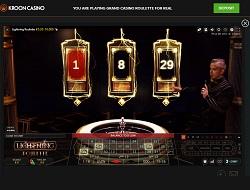 Kroon Casino Lightning Roulette