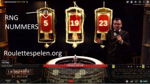 Live lightning roulette screenshot