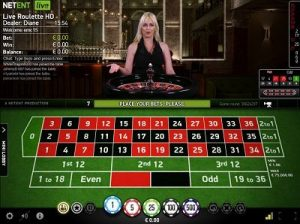 NetEnt Live roulette screenshot